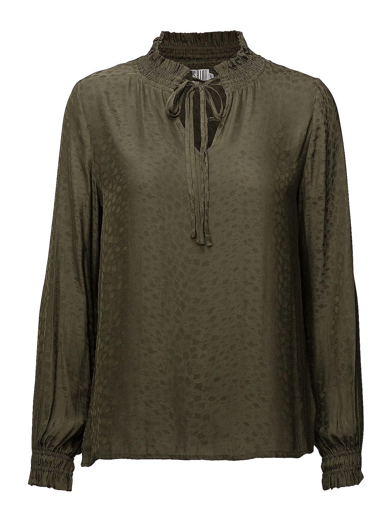High neck blouse w smock fra saint tropez fra boozt.com dk
