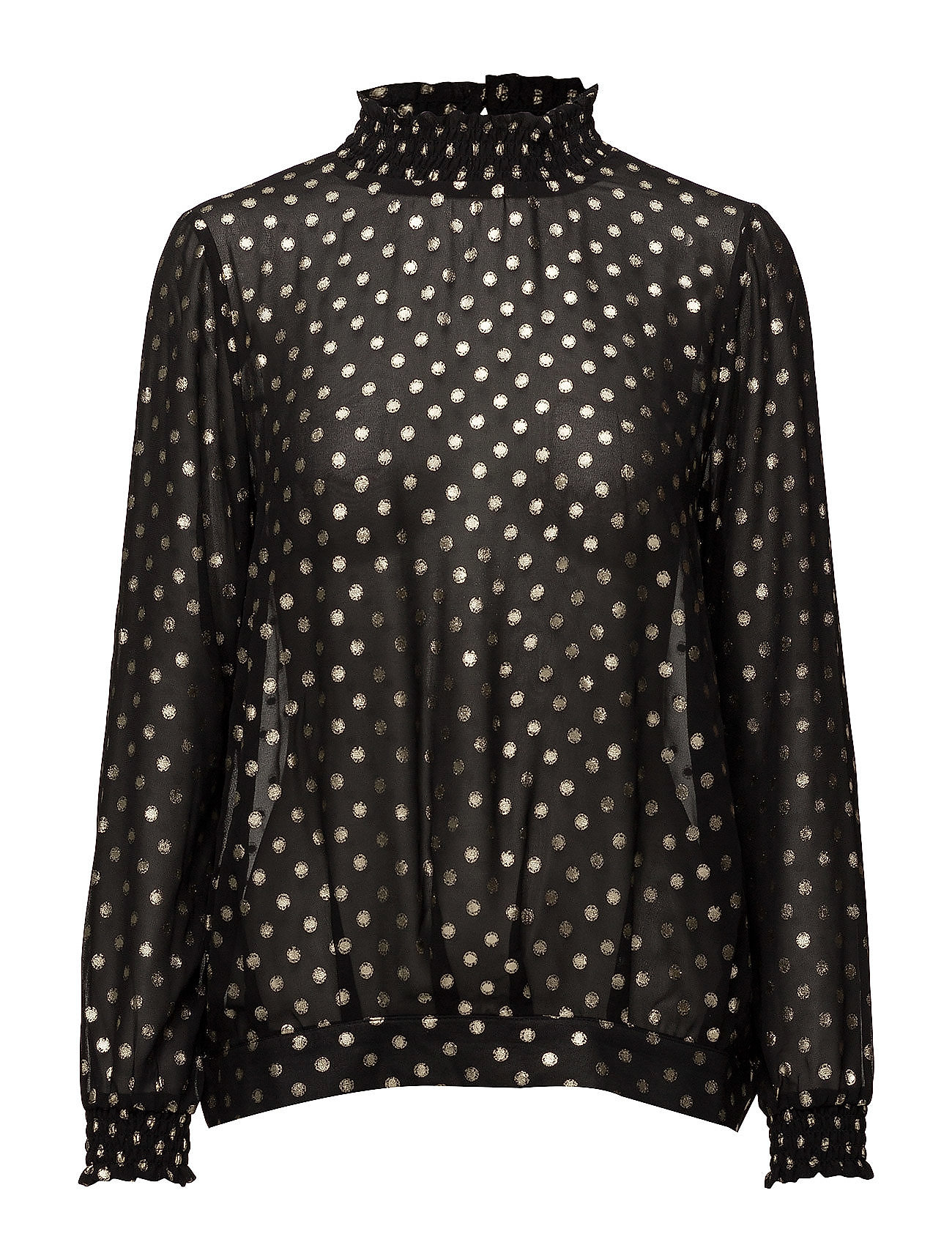 Foil Dotted Smock Blouse
