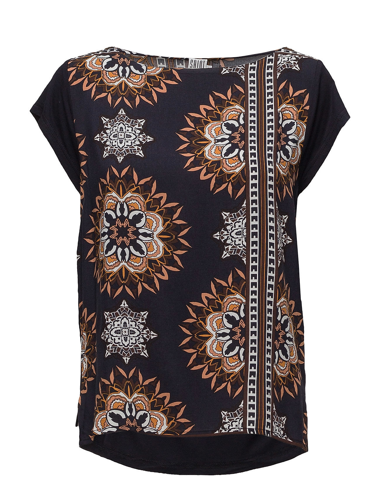 saint tropez – Kaleidoscope t-shirt w. chiff. fra boozt.com dk