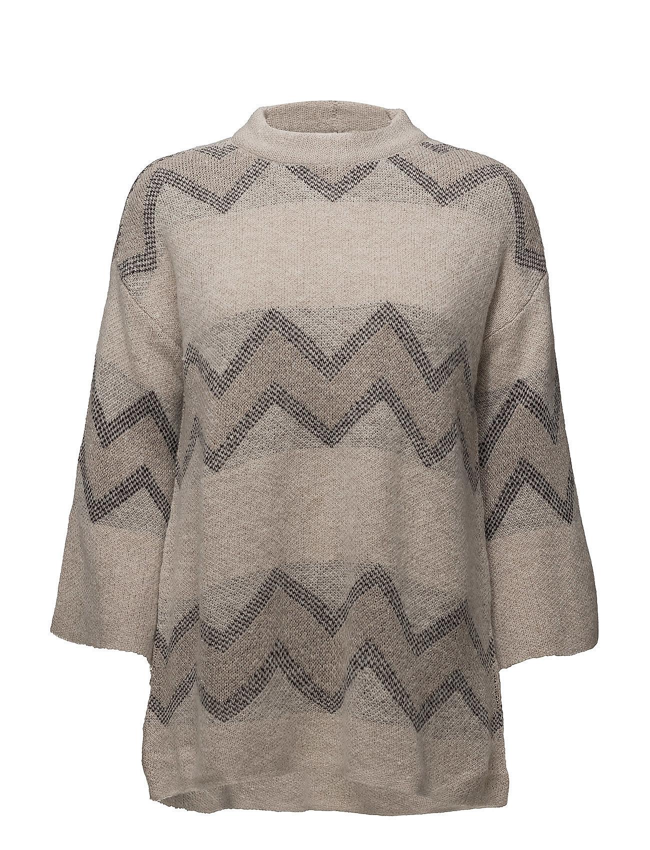Wide Sleeve Knit Blouse Saint Tropez Ponchoer til Damer i