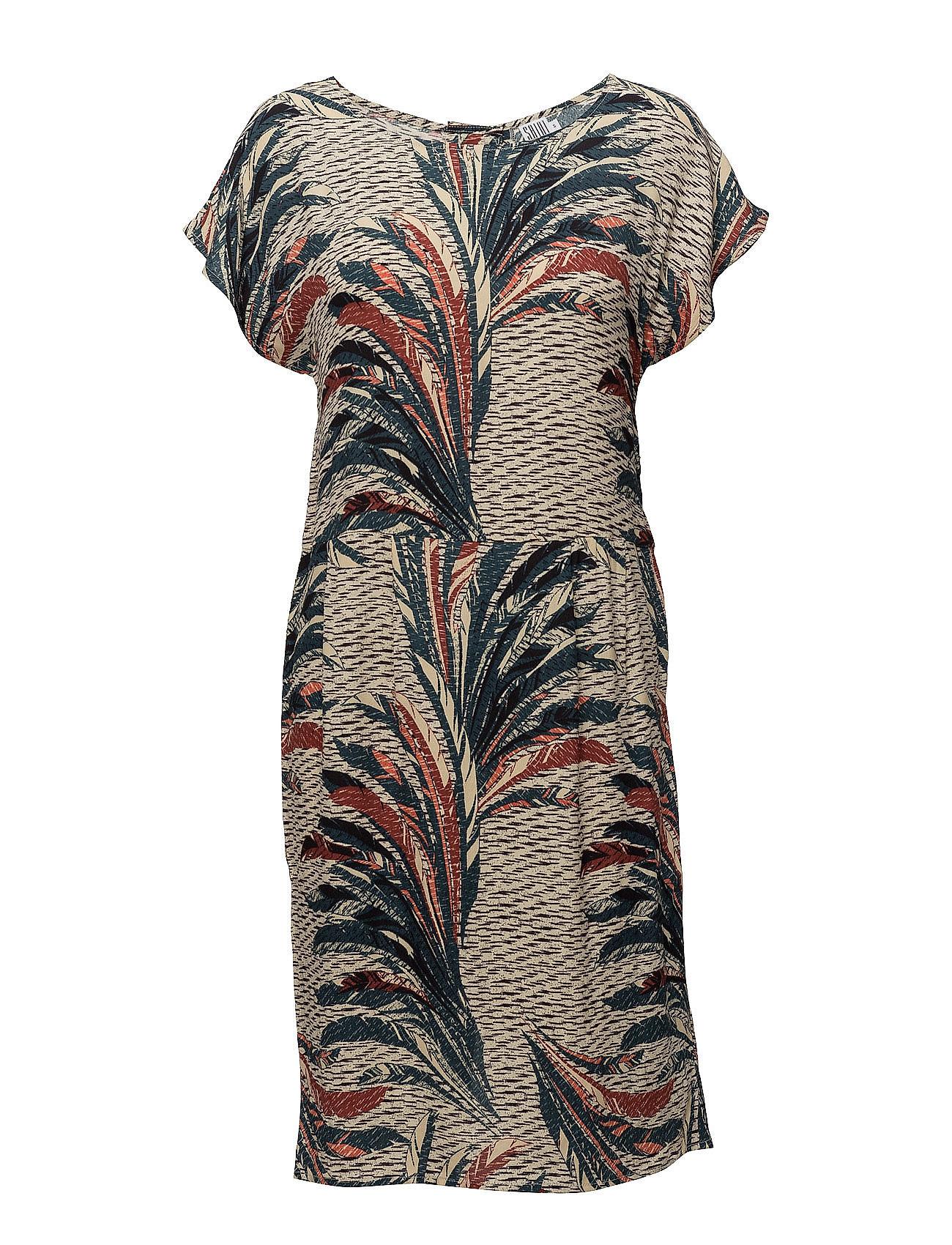 Feather Printed Woven Dress Saint Tropez Knælange & mellemlange til Damer i