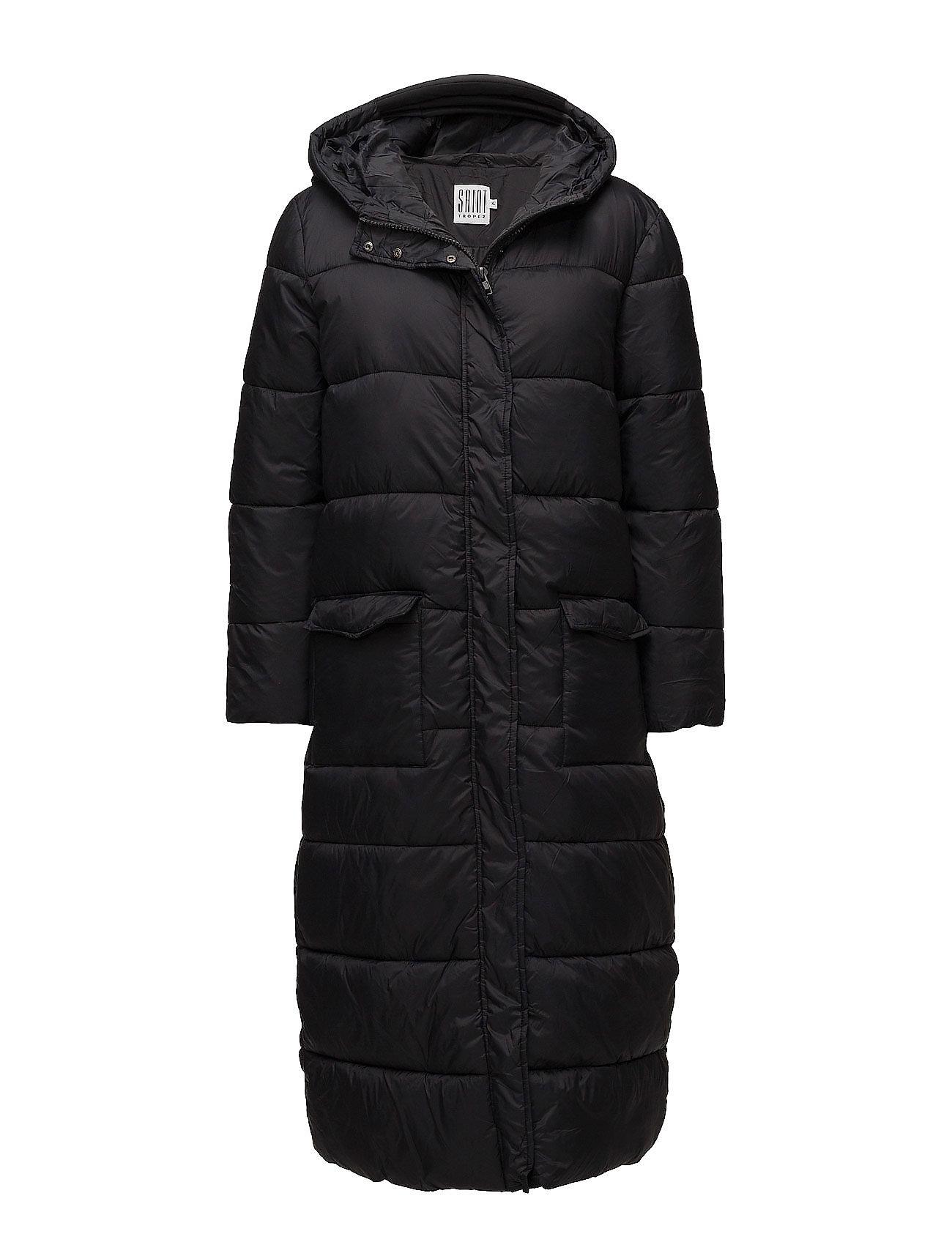 Long Padded Jacket With Hood Saint Tropez Frakker til Damer i Sort