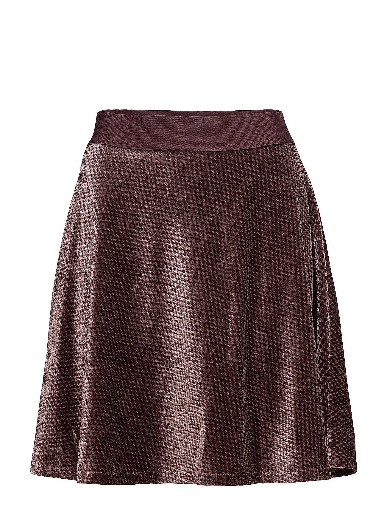 Image of Check Velvet Skater Skirt (2817572485)