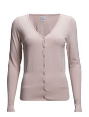 VIS/ELA L/S CARDIGAN V-NECK - Blush