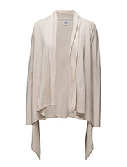 LONG CARDIGAN LOOSE LOOK - STONE M.