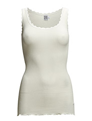 RIB TANK TOP WITH LACE - BASIC - ICE