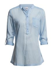 Saint Tropez SHIRT WITH MANDARIN COLLAR