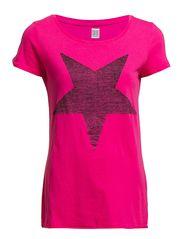 Saint Tropez TOP WITH STAR FRONT PRINT S/S