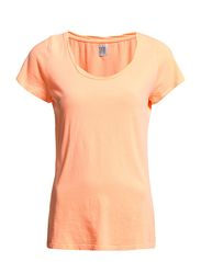 T-SHIRT W TWISTED NECK BINDING - N.Nectar