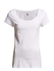 Saint Tropez T-SHIRT W TWISTED NECK BINDING