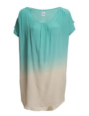 TUNIC WITH DIP DYE - Turquoise