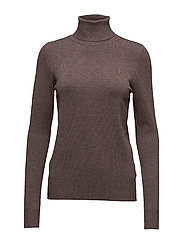 ROLLER NECK SWEATER - BROWN M