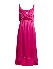 DRESS WITH TWISTED STRAPS - Fuchsia