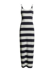 LONG TUBE DRESS W WIDE STRAPS - BlueDawn