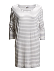 STRIPED OVERSIZE TUNIC - SkyGrey