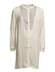 TUNIC WITH SEQUINS - BoneWhite