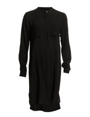 LONG TUNIC WITH POCKETS - Black