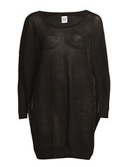 BASIC OVERSIZE KNIT TUNIC - Black