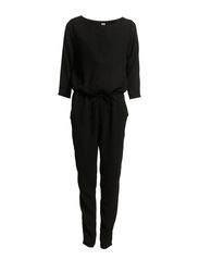 JUMPSUIT WITH 3/4 SLEEVES - Black