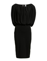 BOTTOM TIGHT JERSEY DRESS - Black