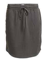 SKIRT WITH STUDS - M.Charcoal