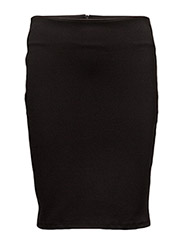 INTERLOCK PENCIL SKIRT - BLACK