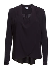 BLOUSE WITH WRAP OVER - D.Navy