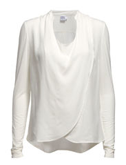 BLOUSE WITH WRAP OVER - Ice
