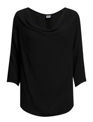 COWL NECK BLOUSE - Black