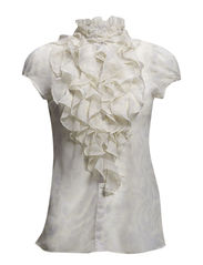 PRINTED RUFFLE SHIRT - Lamb