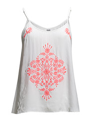 TOP W EMBROIDERY - White
