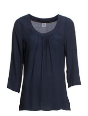 FEMININE 3/4 FLARED TOP - BlueDawn