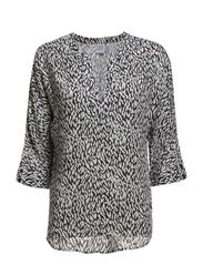 PRINTED BLOUSE  W 3/4 SLEEVES - Ice