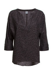 PRINTED BLOUSE  W 3/4 SLEEVES - M.Charc