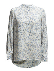 SHIRT WITH FLOWER PRINT - DOVE