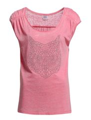 OWL BURNOUT WASHED T-SHIRT - Glow M.