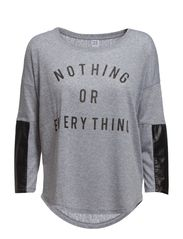 T-SHIRT WITH PU - C.Grey M