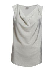 TANK TOP WITH COWL NECK - Ice