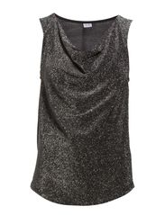 TANK TOP WITH COWL NECK - Silver