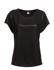 GLITTER TOP W BINDING DETAILS - Black