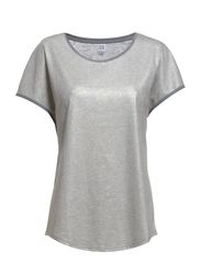 GLITTER TOP W BINDING DETAILS - C.Grey M