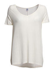 A LINED LONG T-SHIRT - Ice