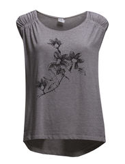 FLOWER PRINTED t-SHIRT - Frost