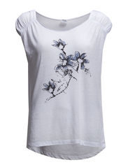 FLOWER PRINTED t-SHIRT - White