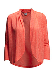BURNOUT CARDIGAN - CoralNeon