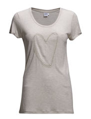 T-SHIRT WITH HEART - Sand M.