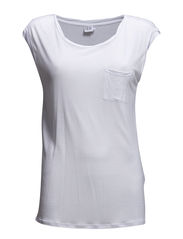 T-SHIRT WITH SHOULDER CHAIN - White