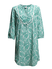 TUNIC W DETAILS AT YOKE/PRINT - B.Green