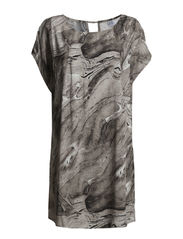 PRINTED TUNIC - Ice