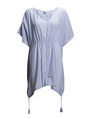 TUNIC WITH TASSELS - P.Blue